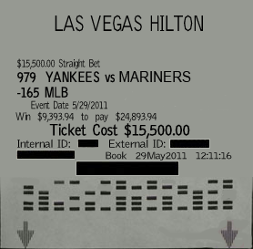 Sports betting wins